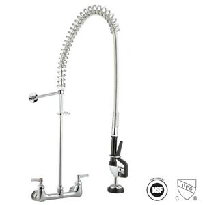 Aquaterior Cucp Nsf Pull Out Commercial Pre rinse Kitchen Faucet Wall Mounted