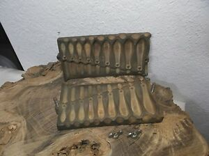 UNCOMMON ANTIQUE READING INSTRUMENT CO USA- CAST IRON LEAD FISHING SINKER MOLD