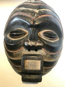 Vintage Large African Mask 14 1 2 D R Congo Tribal Art