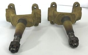 Pair Chevy Standard Spindles For 1933 1934 1935 Chevrolet Passenger Car