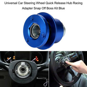 Car Steering Wheel Quick Release Hub Racing Adapter Snap Off Boss Kit Blue R2e7