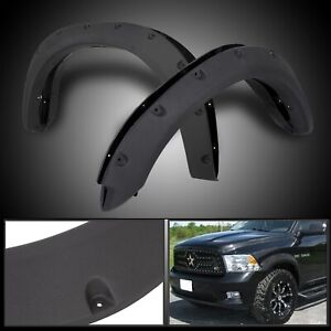 For 2009 18 Dodge Ram 1500 Black Pocket Rivet Bolt On Wheel Fender Flares Cover