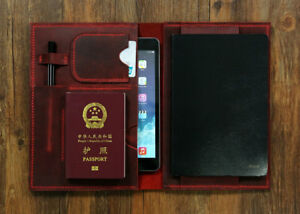 Burgundy A5 Travel Journey Leather Cover Organizer A5 Moleskine Notebook Cover
