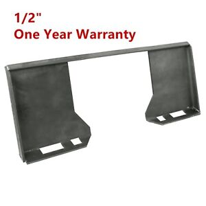 Hd 1 2 Thick Steel Quick Tach Attachment Mount Plate Skid Steer Adapter Bobcat