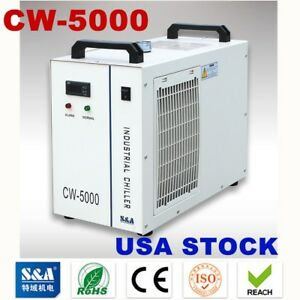 Us Stock S a Cw 5000 Industrial Water Chiller For 3w 5w Ultraviolet Laser