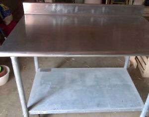 Vintage Stainless Steel Table Cart W Wheels Industrial Or Restaurant Quality