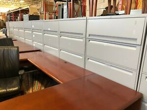 Fireproof Steel case Used Rolling Lateral Filing Cabinets 2 4 Drawers