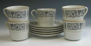 Lot Of 5 Coventry China Laurent Cup Saucer Sets Excellent