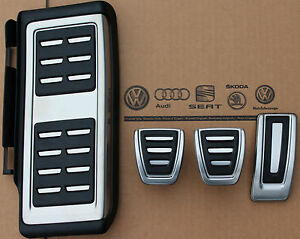 Seat Leon 5f Original Pedal Caps Cover Pads Kit Footrest For Manual Cars