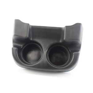 Floor Console Mounted Dual Cup Holder Insert Black Color For Ford Truck 2001 04