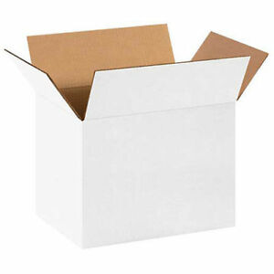 14 x10 x10 White Corrugated Boxes 200lb Test ect 32 25 Pack Lot Of 25