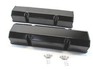 Small Block Chevy 350 Fabricated Tall Valve Cover Black Anodized Bpe 2304ba