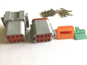 Gray Deutsch Dt 2 3 4 6 8 12 Solid Green Band Pin Connector Kit 14 16 Awg