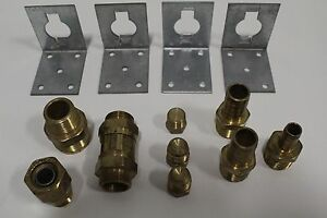 Set Of 13 Gastite Various Brass Xr2 Series Fittings