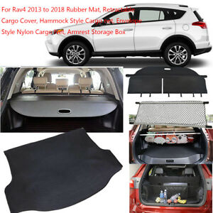 Rubber Cargo Mats Cover Net Trunk Liner For 2013 2018 Toyota Rav4 Floor Tray