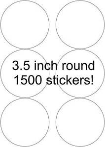 3 5 Round Matte Labels 1500 Stickers 250 Sheets High Quality Laser Printers