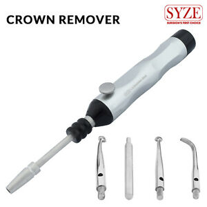 Dental Surgical Instruments Crown Removal Gun Automatic With 4 Attachments Tool