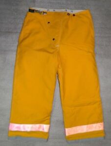 Globe Firefighter Bunker Turnout Pants 36x26 Vintage 1995 Nwot Fire Yellow