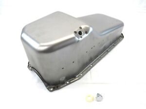 1980 85 Sbc Chevy 350 2 Pc Rms Stock Steel Oil Pan Pass Side Dip Raw Bpe 6102