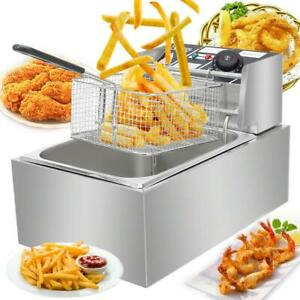 2500w 6 3qt Electric Countertop Deep Fryer Basket Restaurant 6 Liter