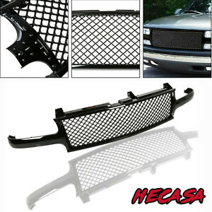Black Mesh Front Hood Grill Grille Fit 99 02 Silverado 00 06 Tahoe Suburban