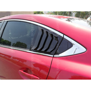 For Mazda6 Atenza 2014 2018 Shiny Rear Quarter Panel Window Side Louvers Vent