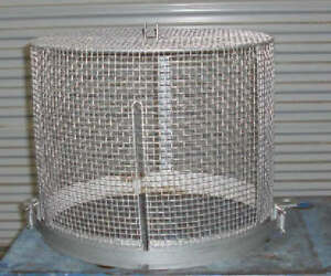 Steel Bell Jar Safety Cage 18 1 2 Dia X 15 H