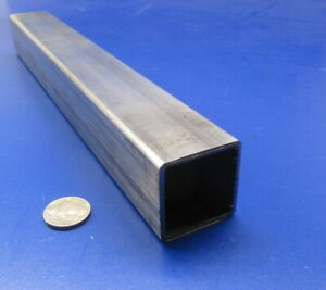 304 Stainless Steel Square Tube 1 1 2 Sq X 083 Wall X 12 Inch Length