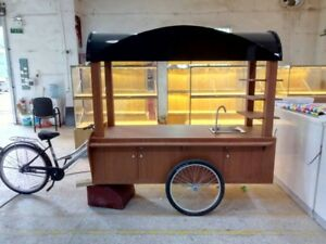 Mobil Coffee food Cart E bike Mobile Perfect For Coffee Pre made Food