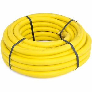 Goodyear Air Hose 12916 Yellow Rubber Air Hose 1 2 Solid Brass End Fittings 50 X