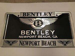 Bentley Newport Beach Car Dealership License Plate Frame And Dealer Insert