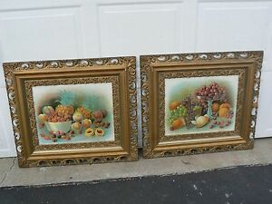 Sale Lot Of 2 Vintage Ornate Wood Picture Frames 27 3 4 X 31 3 4
