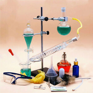 Small Size Glass Essential Oil Steam Distilling Apparatus Hydrosol Distillation