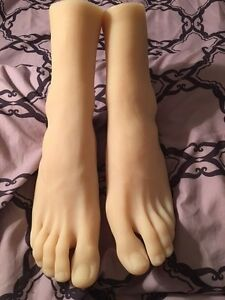 New Girls Womens Dancer Feet Silicone Mannequin Foot Model Long Toes Sz 10 Shoe