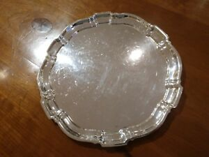 Poole 12 Sterling Silver Tray