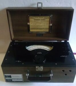 Vintage 1963 Sensitive Research Instrument Corp Model D Dynamometer Voltmeter