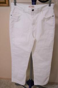 LEE Classic Fit Straight Leg at the Waist White Denim Jeans Size 14 Petite