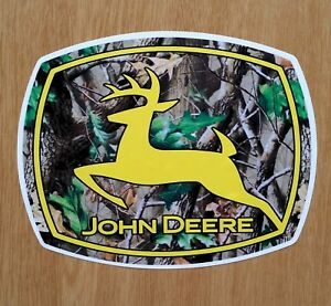 2 John Deere Realtree Logo Qfe Fade Resist Vinyl Decal Stickers Farm 5 25 X4 25