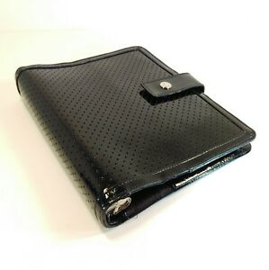 Franklin Covey Classic Black Leather Planner Binder Organizer