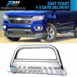 Fits 15 17 Chevy Colorado Ss Bull Bar Front Bumper Grille Guard Stainless