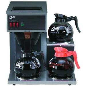 Commercial Pourover Coffee Brewer 64 Oz Brewer 3 Station 2 Lower 1 Upper