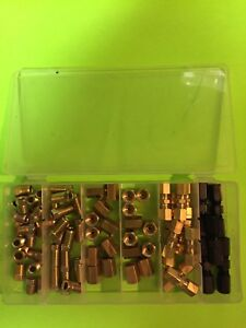 75 Pc 3 16 Brake Fuel Oil Compression Fitting Union Inverted Flare Asst