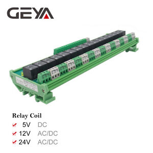 Geya 16 Channel 1spdt 1nc1no Relay Module For Ac Dc 5v 12v 24v Plc Relay