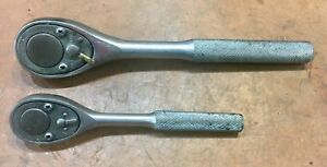 Pair Vintage Pear Head Ratchets 3 8 1 2 Dr Fleet 1261 Tru Test T1661 Usa