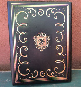 Vintage Gold Black Paper Binder Lion Escobedo 9051 9 75x7 25x1 6