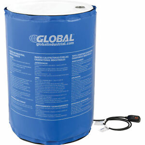 55 Gallon Insulated Drum Heater Blanket 100 176 f Fixed Temperature Lot Of 1