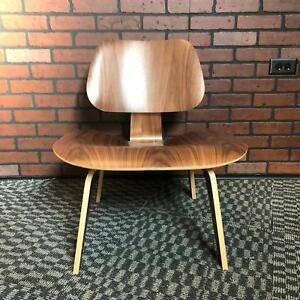 Eames Lcw For Herman Miller Mid Century Molded Plywood Lounge Chair Walnut