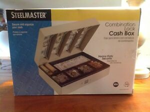 Steelmaster Cash Box With Combination Lock 10 Sections Sand New 221619003