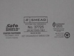 Smead 3 Expansion Folder 2 Fasteners End Tab Legal Gray 25 Ct Box 37725 File