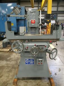 Covel Model 10h Hydraulic 2 axis Surface Grinder 6 X 18